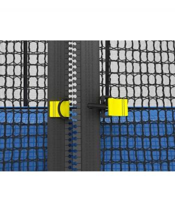 Дачный  Пружинный Батут Unix 6 ft с сеткой и лестницей Blue