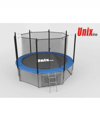 Дачный Пружинный Батут Unix 6 ft inside blue