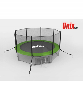 Батут Unix 14 ft outside green