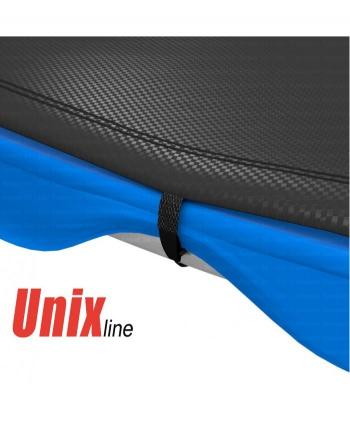 Дачный Пружинный Батут Unix 12 ft с сеткой и лестницей Blue