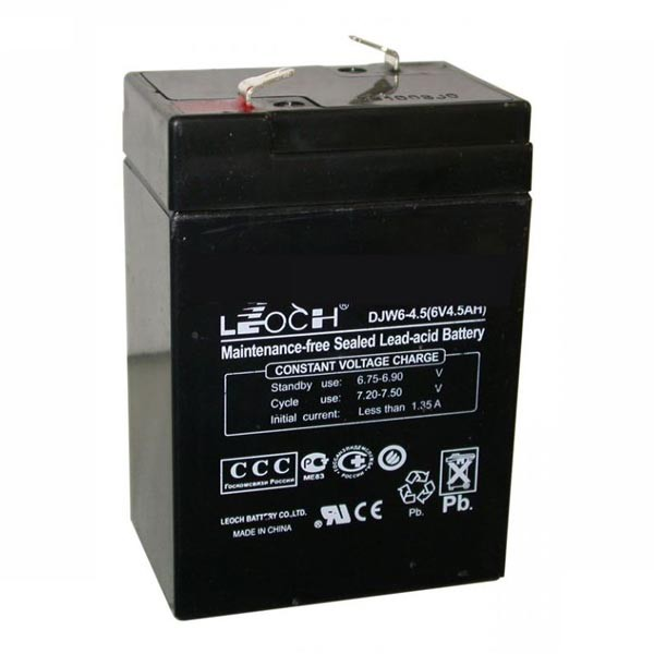 Аккумулятор 6v 4,5ah Leoch