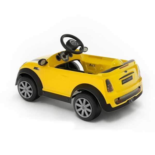 Детская педальная машина Toys Toys Mini Cooper S желтый