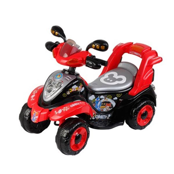 Электроквадроцикл 6v чёрн-красн