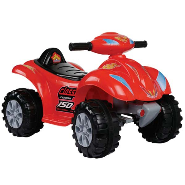 Электроквадроцикл 6v красный