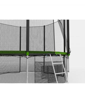 Дачный Пружинный Батут Unix 8 ft с сеткой и лестницей Green
