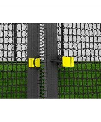 Дачный Пружинный Батут Unix 6 ft с сеткой и лестницей Green