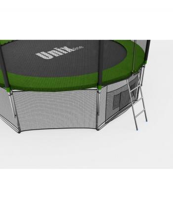 Дачный Пружинный Батут Unix 12 ft с сеткой и лестницей Green