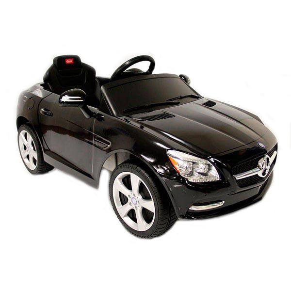 Детский электромобиль на радиоуправлении Rastar Mercedes-Benz SLK черный