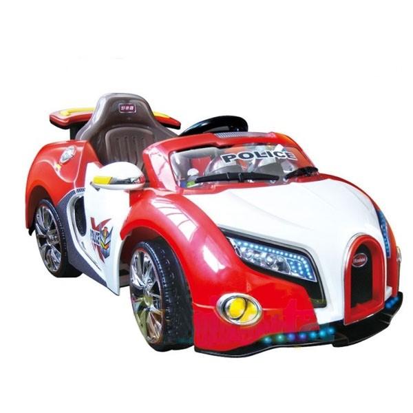 Электромобиль Bugatti 12v10AH на радио управляемый МП3 бело-красный