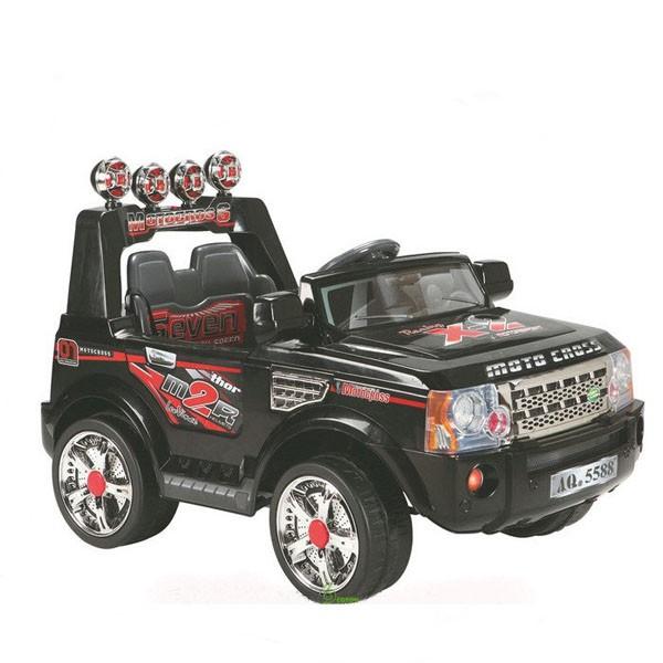 Электромобиль Land Rover 2 аккумулятора  по 6V10AH радио управляемый чёрный