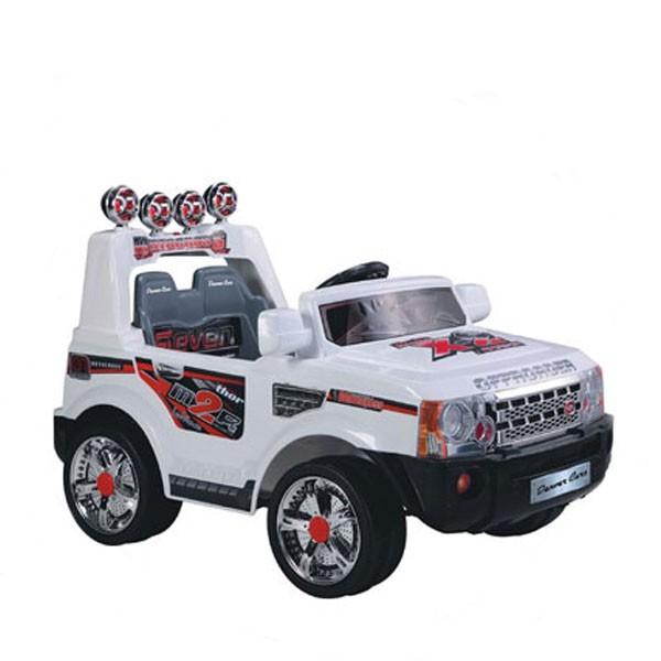 Электромобиль Land Rover 12v радио управляемый белый