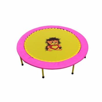 "Складной мини-батут 40"" диаметр 102 см розово-желтый"