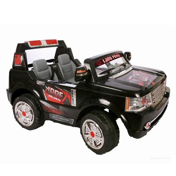 Электромобиль 2-х местный Land Rover BIG 24v 2 аккумул по 12V7AH  радио управляемый чёрный