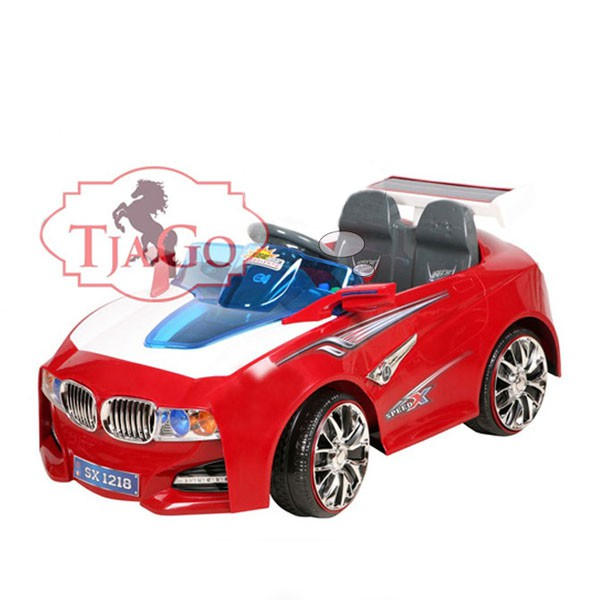 Электромобиль BMW--Solar-System 12v14AH радио управляемый красный МП3