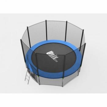Дачный Пружинный Батут Unix 8 ft с сеткой и лестницей Blue