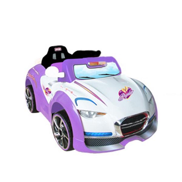 Электромобиль Cabrio два мотора 6v7AH радио управляемый бело-фиалет