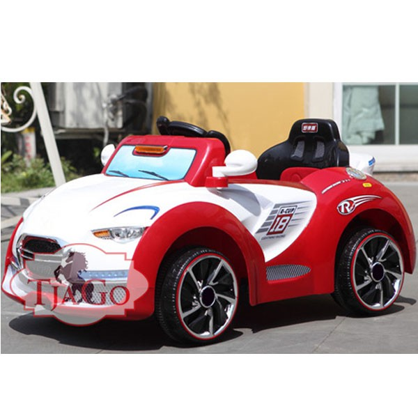 Электромобиль Cabrio два мотора 6v7AH радио управляемый бело-красный