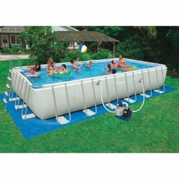 54984 Бассейн каркасный Intex Rectangular Ultra Frame Pool