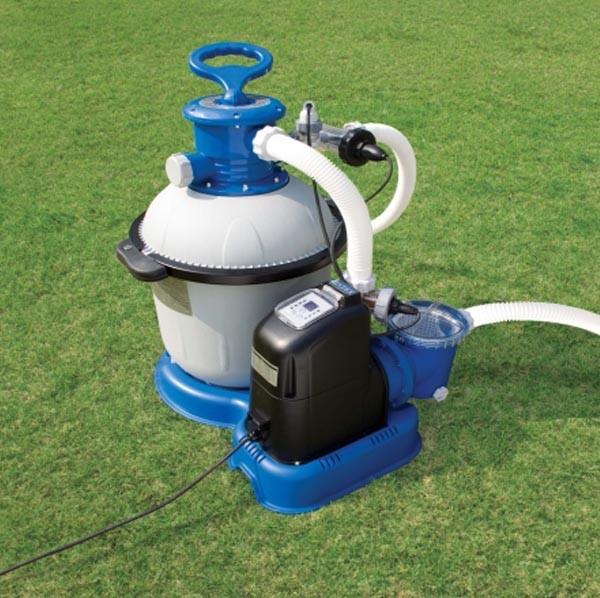 Песочный фильтр-насос с хлорогенератором арт 56682