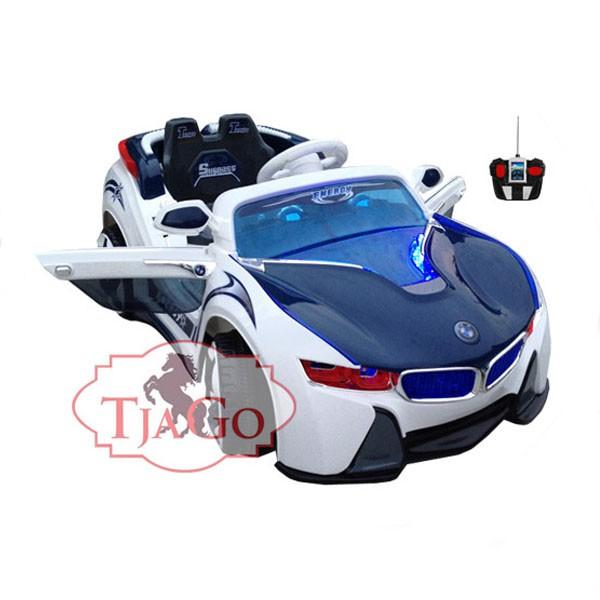 Электромобиль BMW-Sport два мотора 6v7AH радио управляемый бело-синий