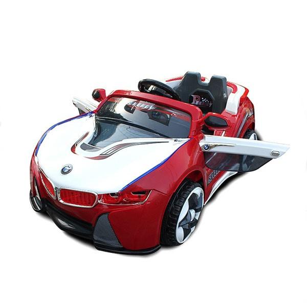 Электромобиль BMW-Sport два мотора 6v7AH радио управляемый бело-красный