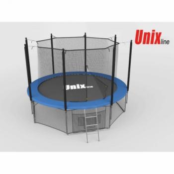 Дачный Пружинный Батут Unix 12 ft inside blue