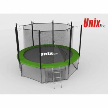 Дачный Пружинный Батут Unix 8 ft inside green