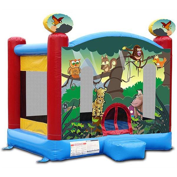 Детский надувной батут Веселые джунгли