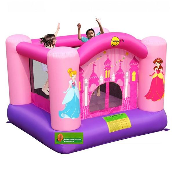 Батут Happy Hop для дома розовый 9001P