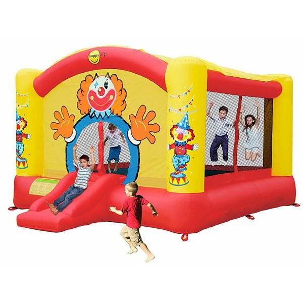 Детский надувной батут Веселый клоун с горкой 9014N