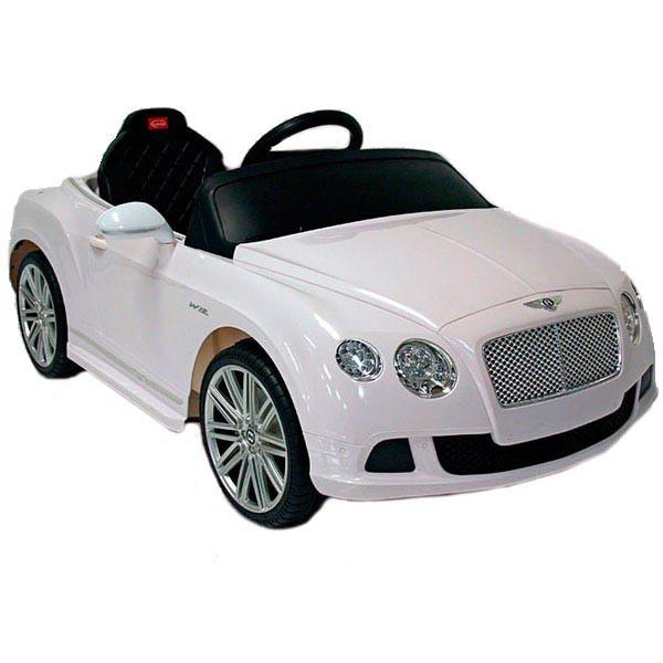 Детский электромобиль на радиоуправлении Rastar Bently Continental GT белый