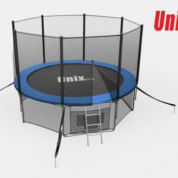 Батут Unix 14 ft outside blue