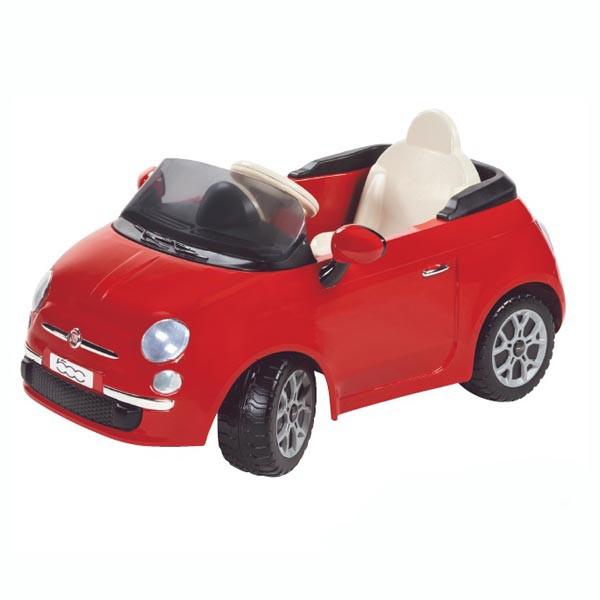 Детский электромобиль Fiat 500 red