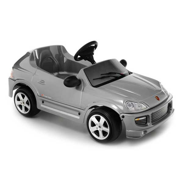 Детский электромобиль Toys Toys Porsche Cayenne Silver