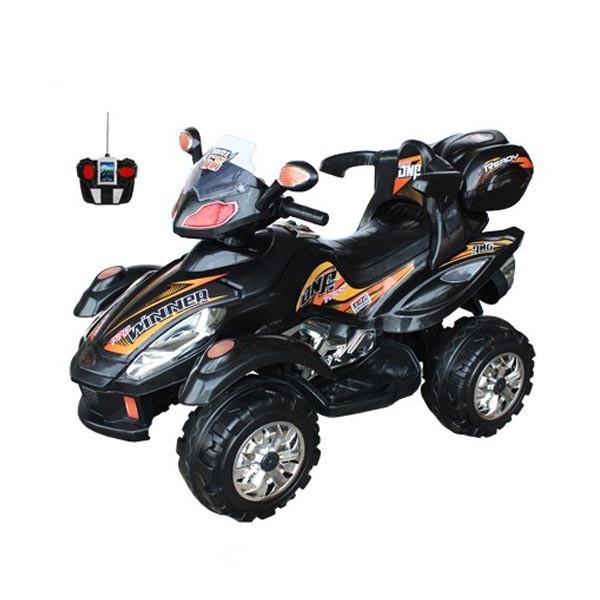 Электроквадроцикл Winner на радио управляемый 2 мотора по 6v7АН чёрный