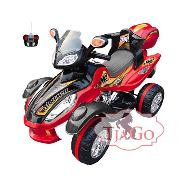 Электроквадроцикл Winner на радио управляемый 2 мотора по 6v7АН красный