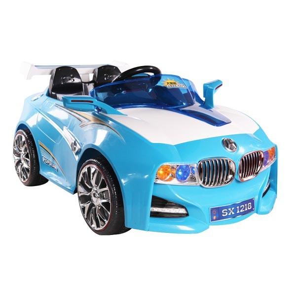 Электромобиль BMW-Solar-System 12v14AH радио управляемый голубой МП3