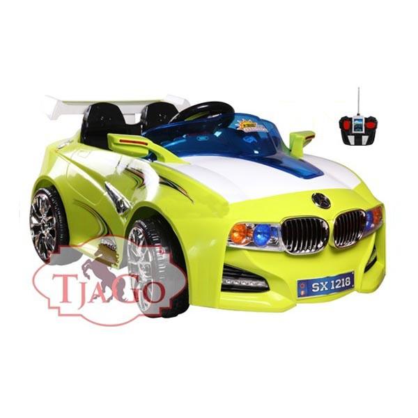 Электромобиль BMW-Solar-System 12v14AH радио управляемый лимон МП3