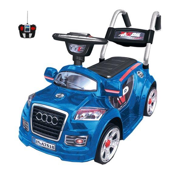 Электромобиль Mini Audi  6v радио управляемый синий