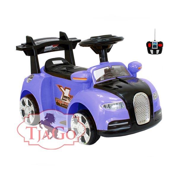 Электромобиль Mini Bugatti 6v радио управляемый фиалет