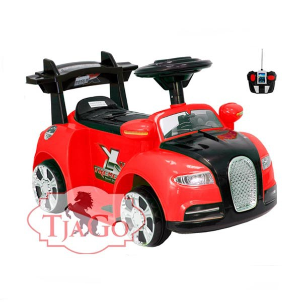 Электромобиль Mini Bugatti 6v радио управляемый красный