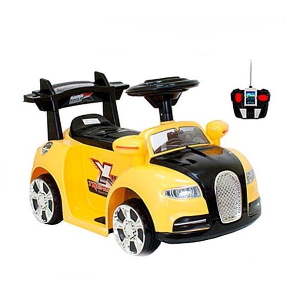 Электромобиль Mini Bugatti 6v радио управляемый жёлтый