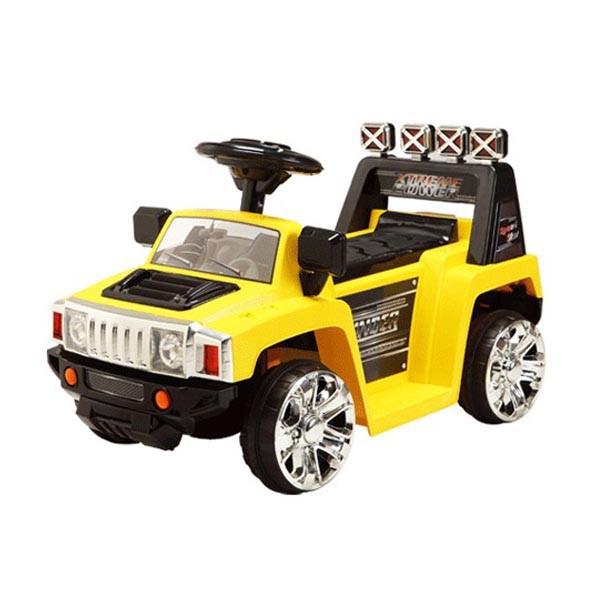 Электромобиль Mini Hummer 6v радио управляемый жёлтый
