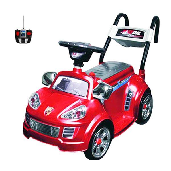 Электромобиль Mini Porshe 6v радио управляемый красный
