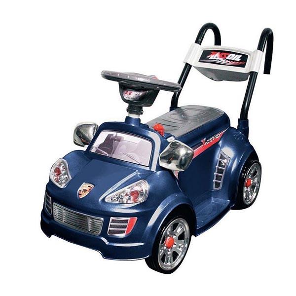 Электромобиль Mini Porshe 6v радио управляемый синий