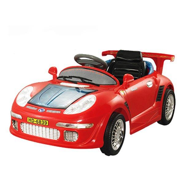 Электромобиль PORSCHE Sport  6v радио управляемый вход для МР3 красный