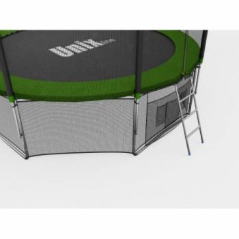 Дачный Пружинный Батут Unix 10 ft с сеткой и лестницей Green