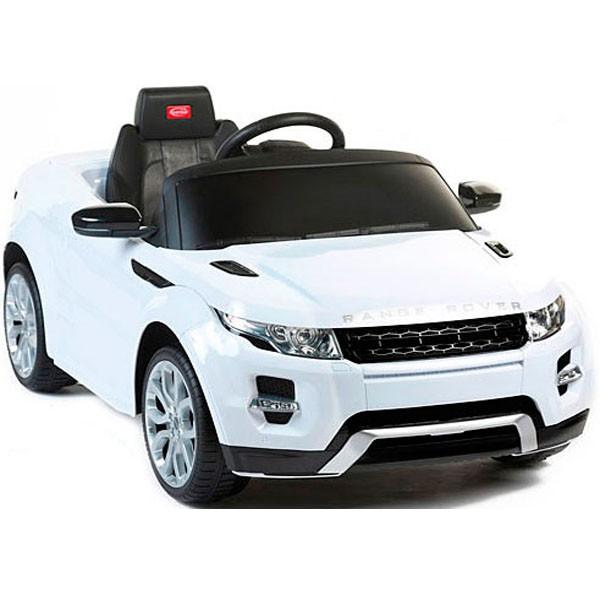 Детский электромобиль на радиоуправлении Rastar Range Rover Evoque белый