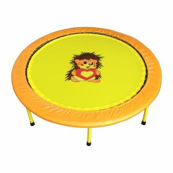 Складной Мини-батут 54 диаметр 138 cм оранжево-желтый